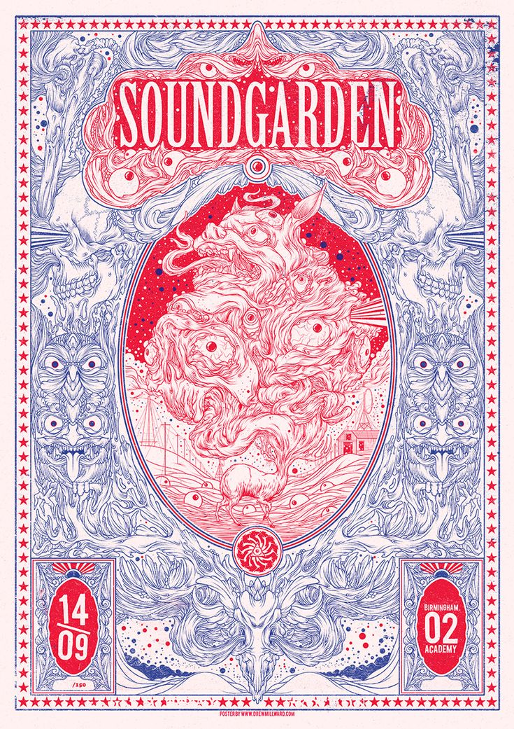 Limited Edition Poster for Soundgarden by Drew Millward..