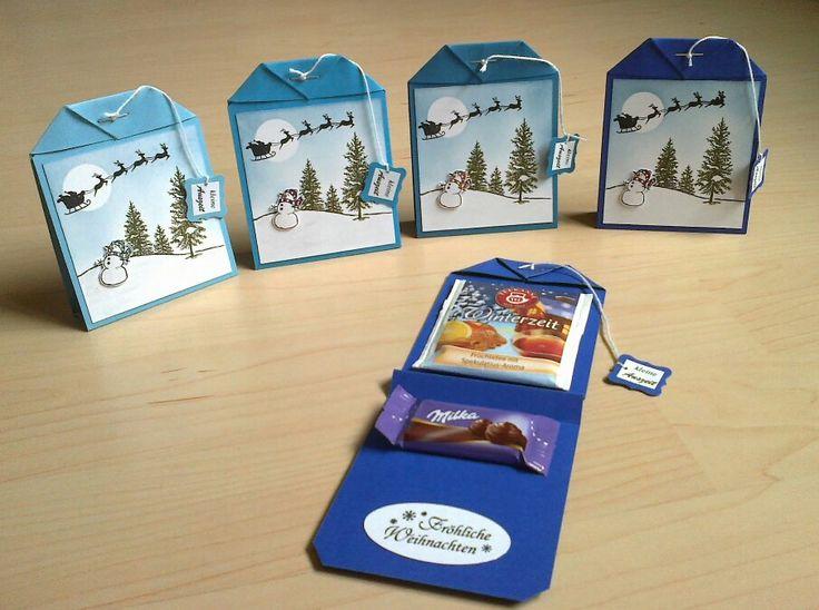 Weihnachtliche Teebeutel-Goodies