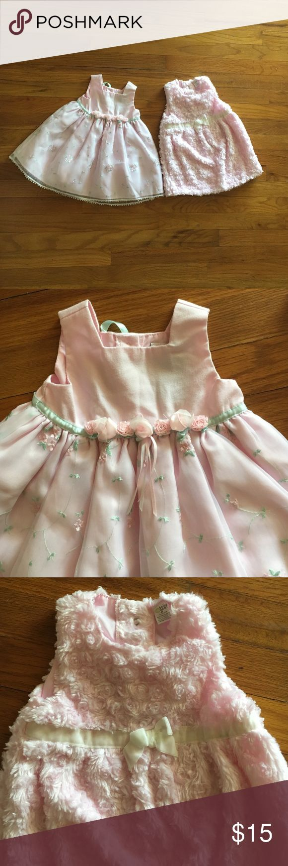 😍Pink baby girl dresses😍 Two beautiful pink special occasion dresses. Gently used only once. Both are size 12 months. Open to offers or bundle for a discount. Dresses Formal