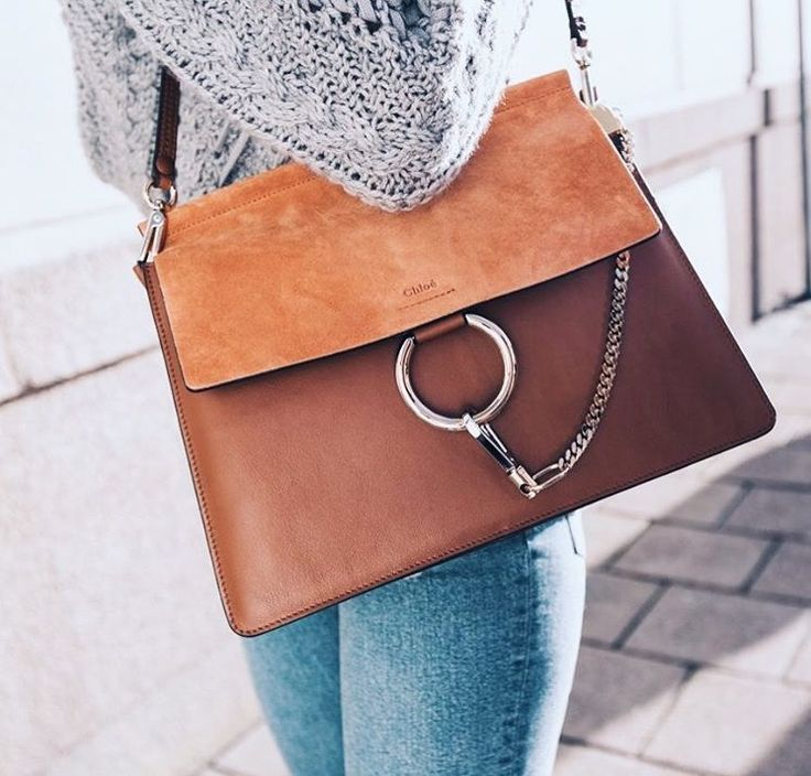 Tan suede clothing purse