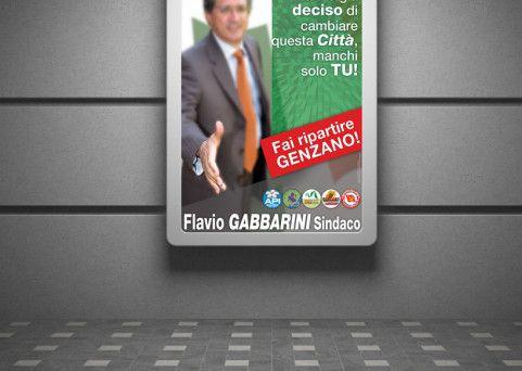 Manifesti per campagna elettorale Sindaco
