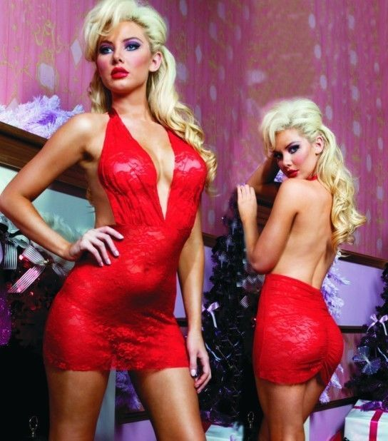 XXL & XXXL Plus Size Women's Sexy Red Lace Babydoll Lingerie 2XL & 3XL