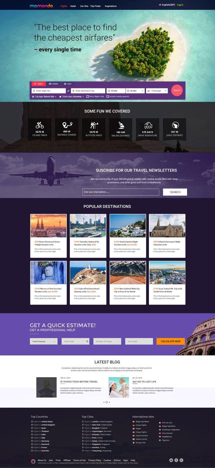 Pin By My Design On Veb Dizajn Travel Website Design Web Design Tips Travel Agency Website