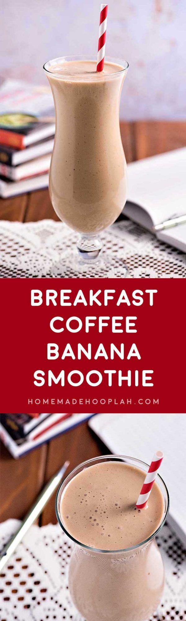 Breakfast Coffee Banana Smoothie - Homemade Hooplah