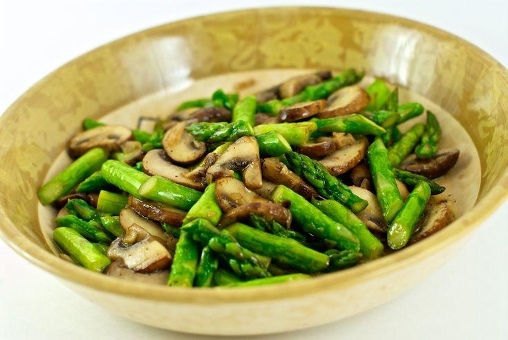 asparagus & mushrooms.