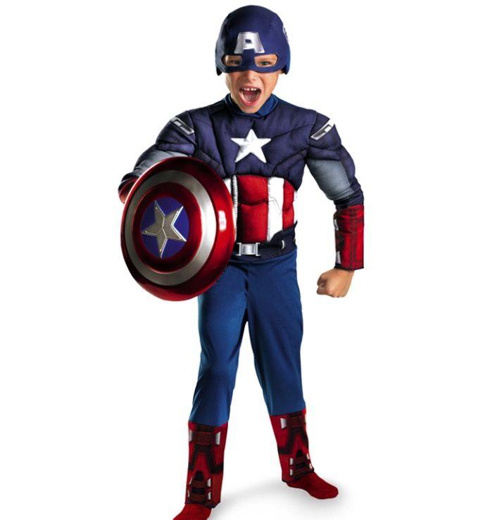Kinder kostuum Captain America
