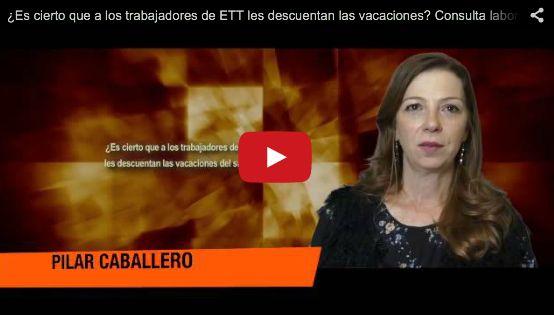 ¿Es cierto que a los trabajadores de ETT les descuentan las vacaciones? Consulta laboral  http://blog.comfia.net/consultas-video/salario/2015/03/18/es-cierto-que-a-los-trabajadores-de-ett-les-descuentan-las-vacaciones-consulta-laboral