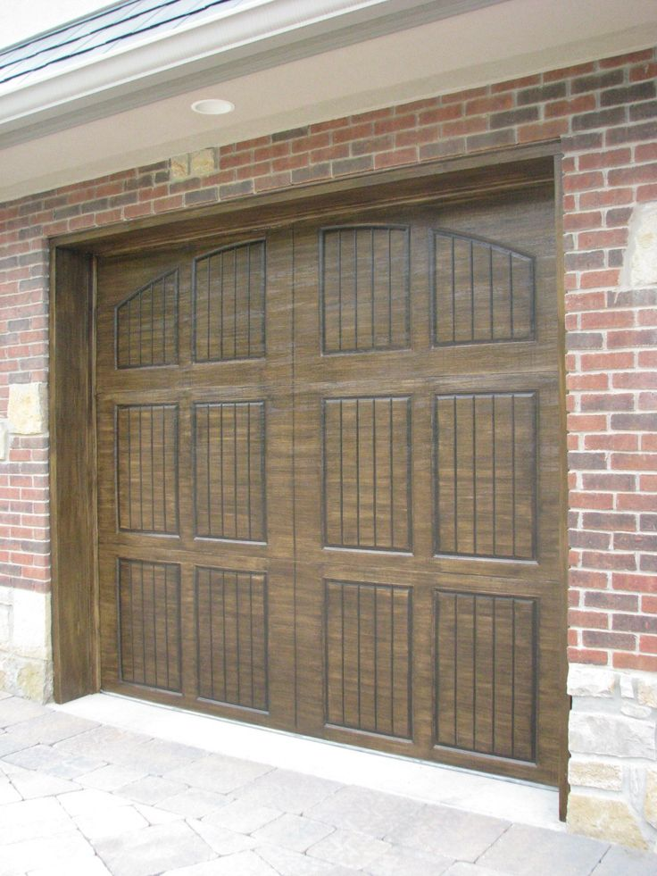 1000 ideas about painted garage doors on pinterest for Faux painted garage doors