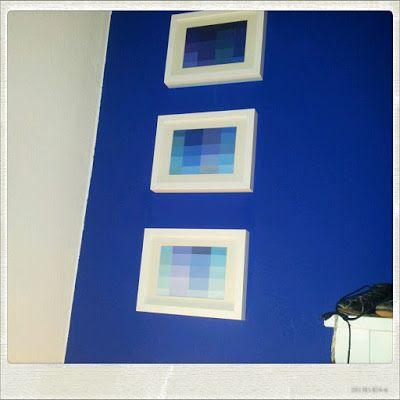 DIY paint chip picture, easy and for a reasonable price |  Baumarkt-Farbmuster-Bild | Eine wirklich kostengünstige Weise dir Farbe ins Wohnzimmer zu holen.