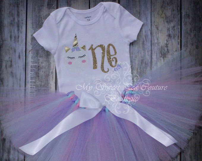 8260f3dd3bc66 Unicorn First Birthday Tutu Outfit Cake Smash Outfit 1st | Etsy ...