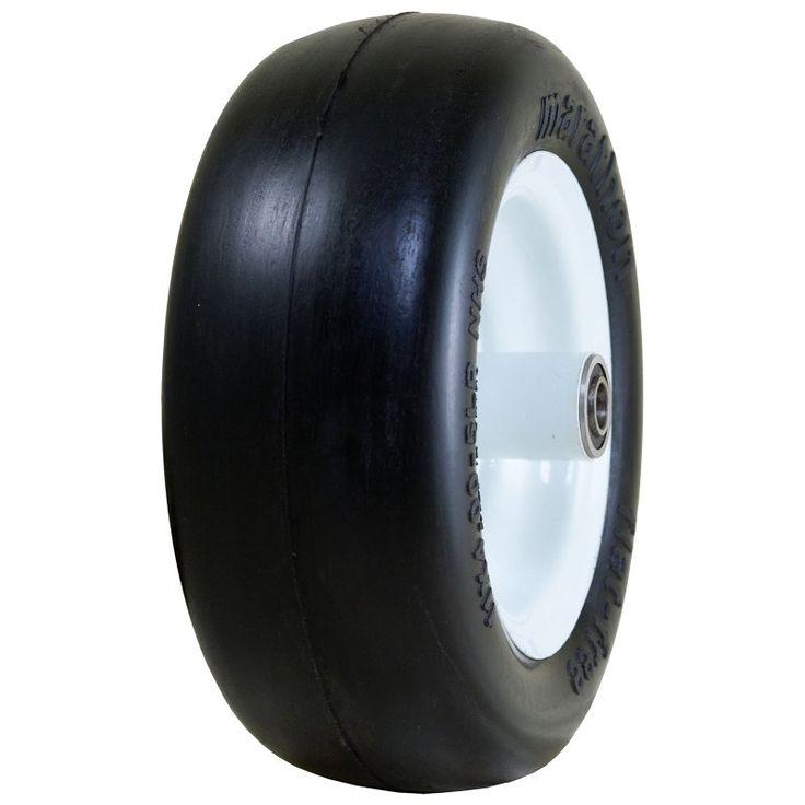 Marathon 01410P Smooth Tread Flat Free Lawn Mower Tire - 1352-1224