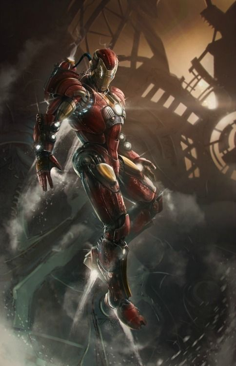 youngjusticer:  This suit is unbelievable. IRON MAN, by Thibault Girard.