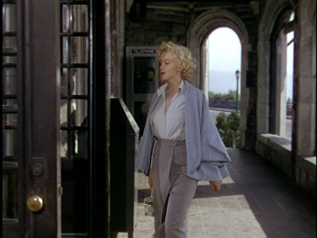 "From the movie ""Niagara"" (1953) Wrap Skirt,  Swing Jacket,  Wrap blouse  Just a completely elegant outfit"