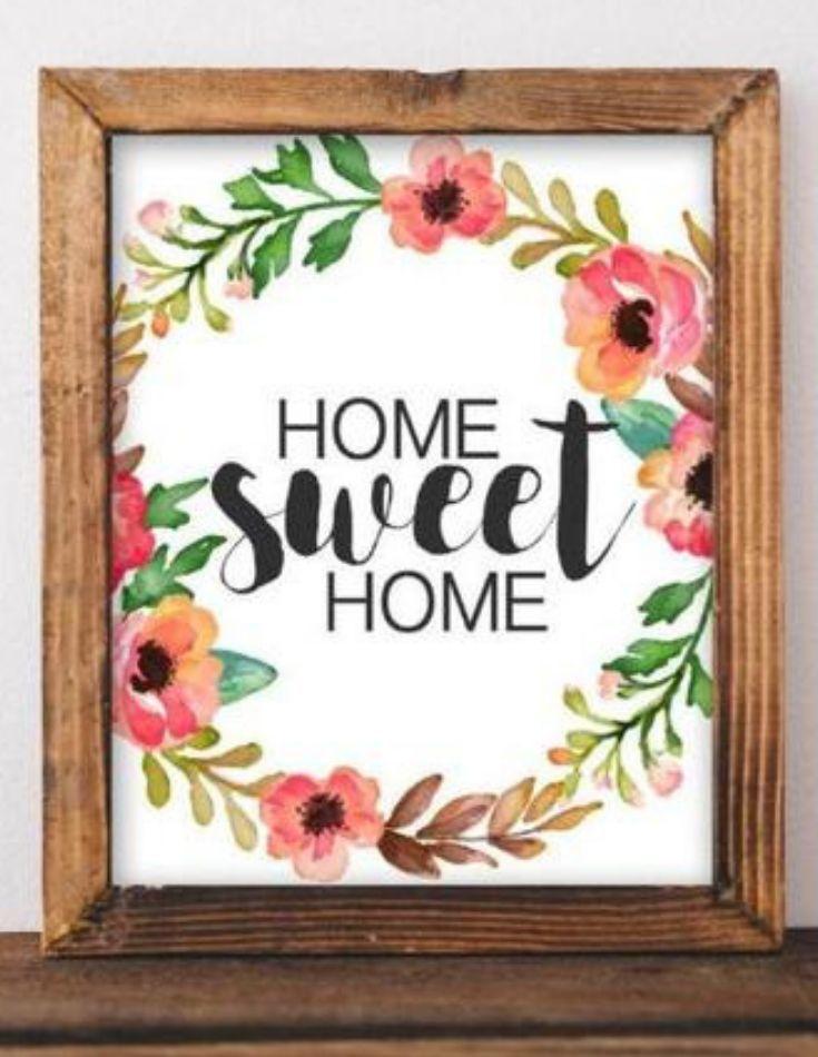 Printable Sign Home Sweet Home Home Decor Entryway Decor Farmhouse Decor Farmhouse Sign Rustic Entryway Decor Art Wall Kids Farmhouse Style Decorating