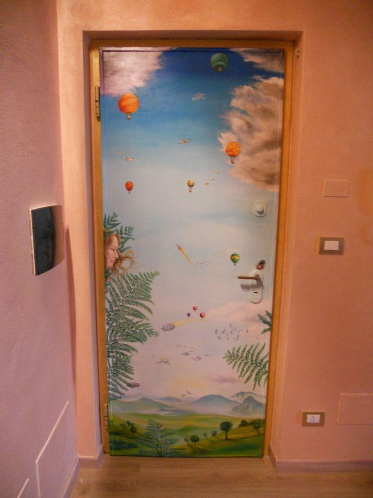 porta dipinta smalto e acrilico su legno 2011