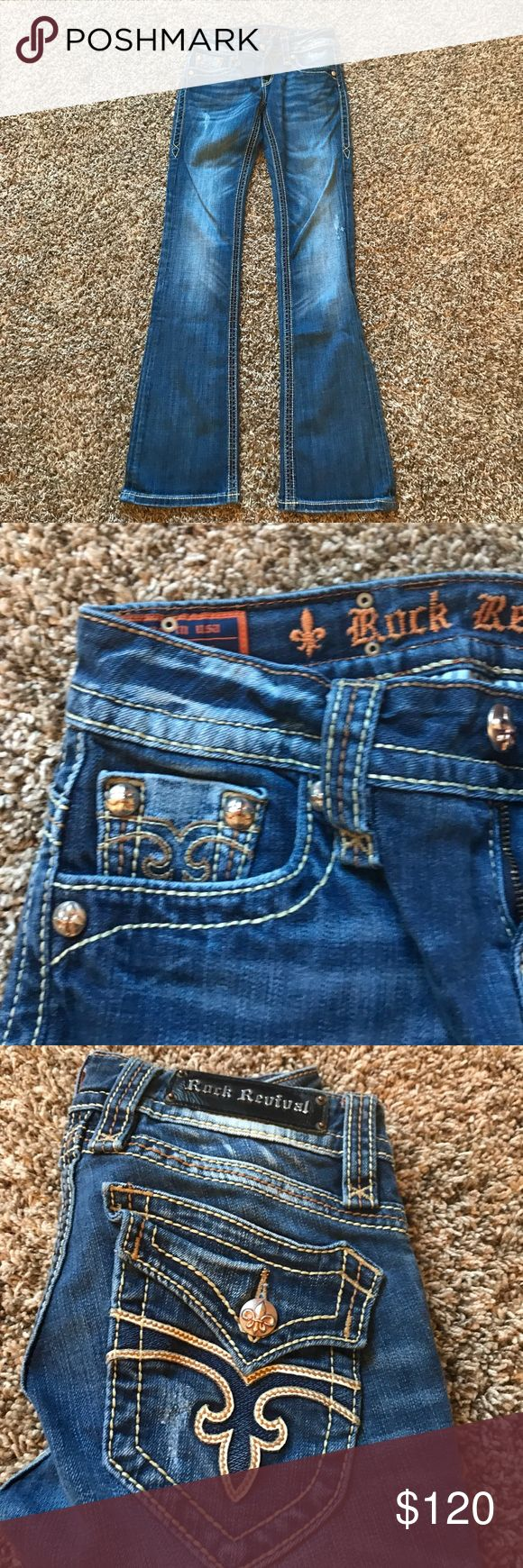 Rock Revival woman's jeans 28L Worn a handful of times and in great condition. Rock Revival Jeans Boot Cut