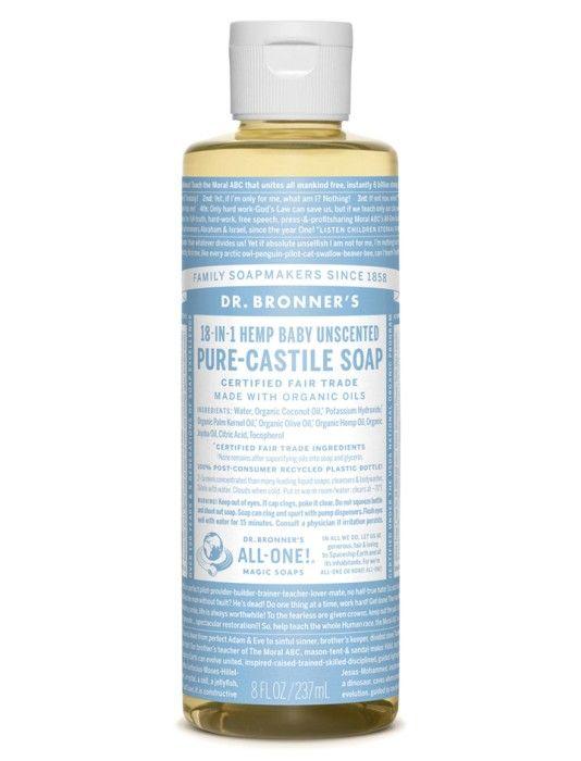 Bild på Dr Bronner Mild Unscented Liquid Soap 236 ml- Använd som schampo