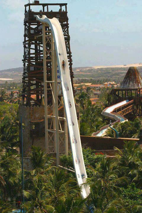 Insano in Brazil is the World's tallest water slide (41 meter). Whould you like to give a try