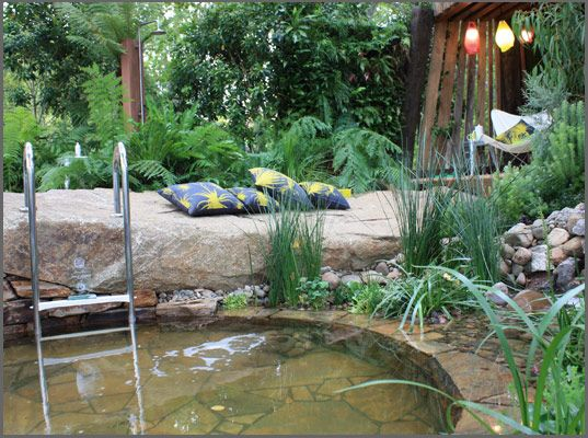 Bathe by phillip johnson landscapes wins most sustainable for Pool and garden show