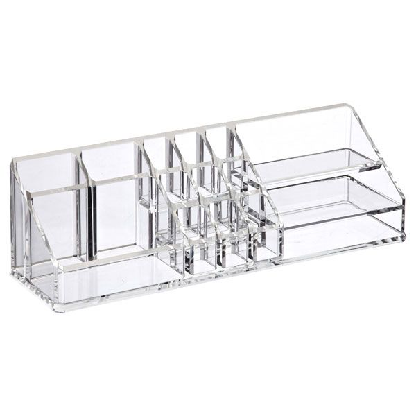 Acrylic Vertical Cosmetic Organizer Clear - 2 to fit w/in 4x12 wire baskets for retail sale items