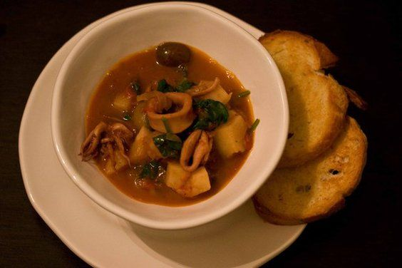 Squid, Potato and Olive Stew | Recipe