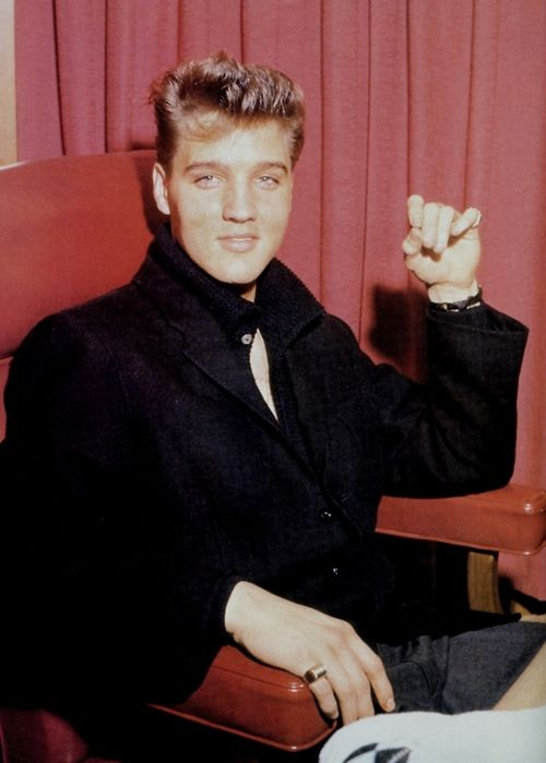 Photographed During A Press Conference At Graceland, March