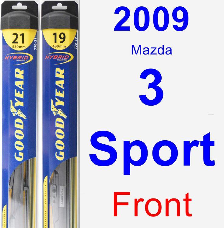Front Wiper Blade Pack for 2009 Mazda 3 Sport - Hybrid
