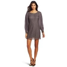Get 74 % discount for Addison Women's Overlapped Poet Sleeve Dress, Shadow