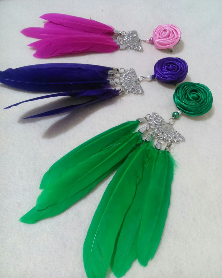 Feather Brooches :) :)