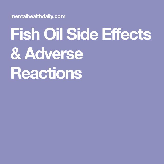 25 best ideas about fish oil side effects on pinterest