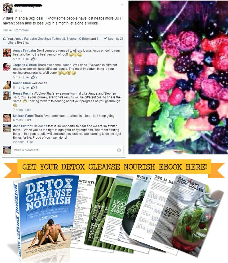 Just some of what people are saying about the Complete Detox Cleanse Nourish Transformation Program.  http://www.detoxcleansenourish.com/