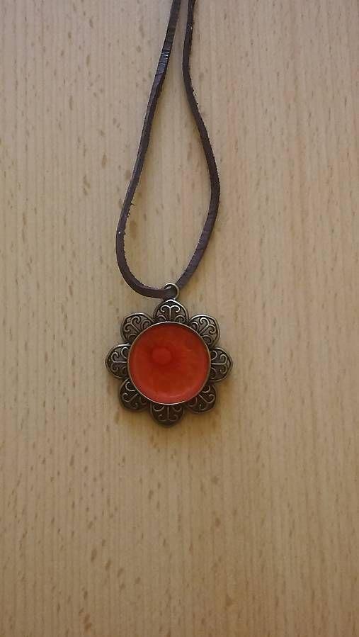 kikulienka9 / Červené slnko - prívesok