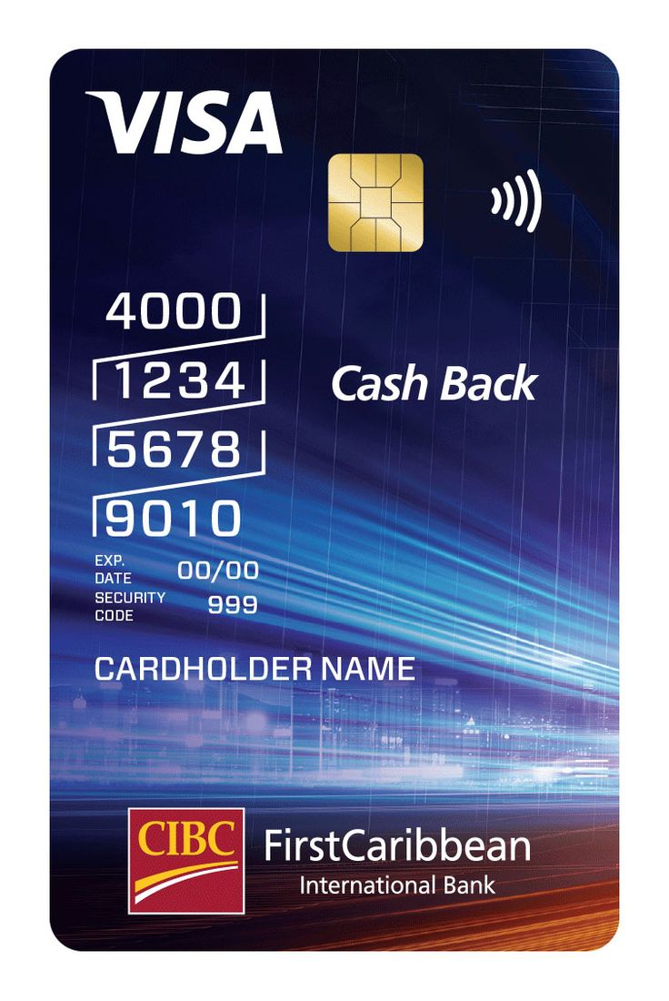 CIBC FirstCaribbean Cash Back Visa credit card Visa