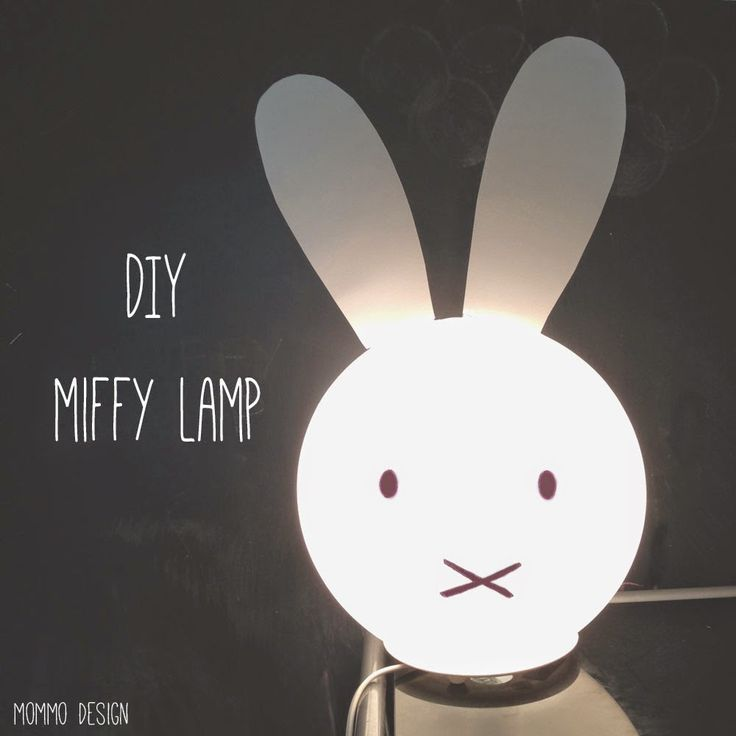 Materials: FADO lamp Very quick hack to make a Miffy lamp! Just cut out two large ears from a...