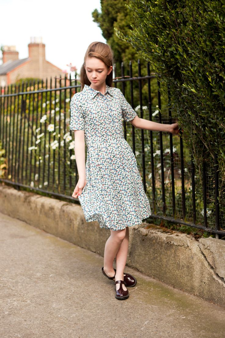 The new floral Gina dress from Circus #1950s #1940s #shirtdress #floral #summer #lookbook #dublin #vintage #style
