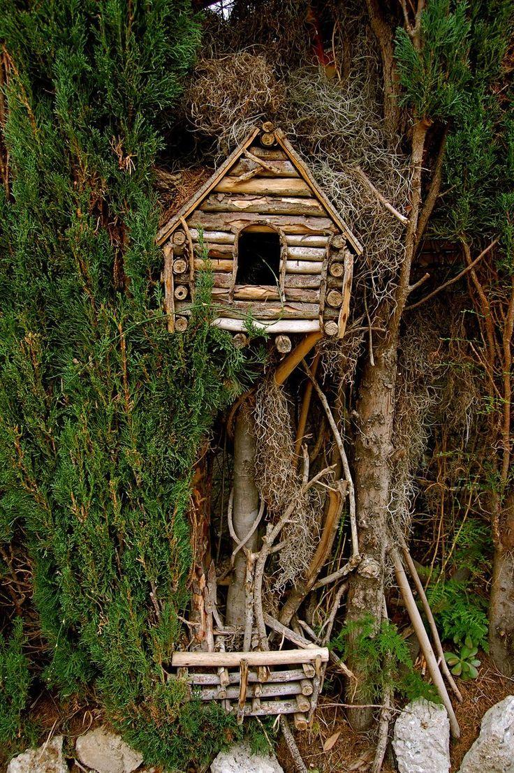 JSBH: like idea of hiding bird house within vines/ greenery.