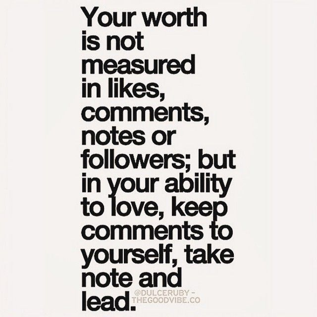 Measure your life in love.