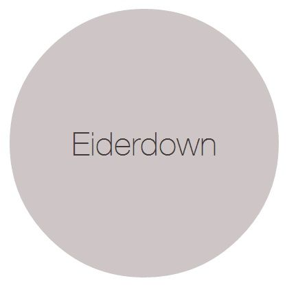 Eiderdown - A cool grey with a sophisticated lilac edge. Works well used alongside natural finishes such as lime washed woodwork and even concrete