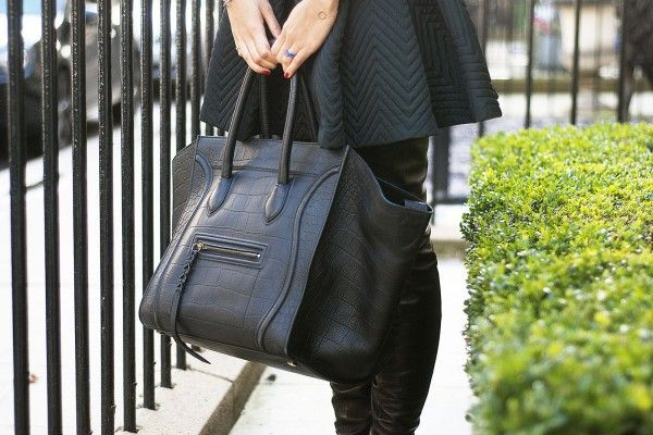 Love the all-black Céline! Photos by Michelle Bobb-Parris.