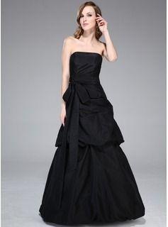Bridesmaid Dresses - $114.99 - A-Line/Princess Strapless Floor-Length Taffeta Bridesmaid Dress With Ruffle Bow(s)  http://www.dressfirst.com/A-Line-Princess-Strapless-Floor-Length-Taffeta-Bridesmaid-Dress-With-Ruffle-Bow-S-018047250-g47250