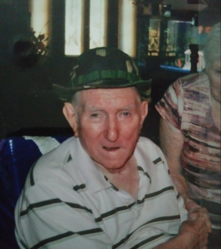 Dad in February 2012, 3 years after his massive stroke ( I got this hat after he died but my son wore it and lost it :( )