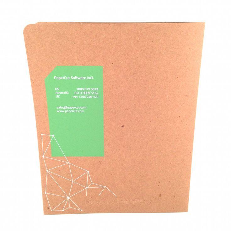 paper cut software custom presentation folder (back)