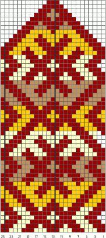 Схема вязания рукавичек северным узором
