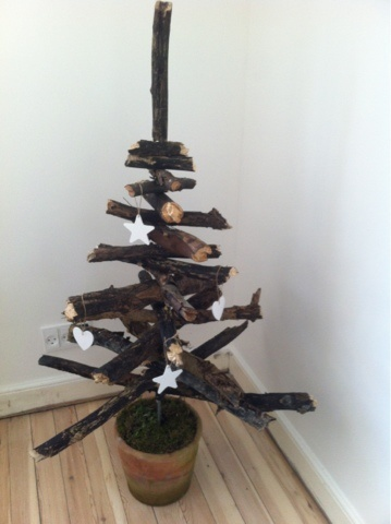 rustic diy christmas tree