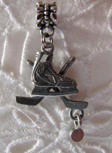 Hockey Charm Bead Hockey European Slide Pendant Hockey Skate Hockey Jewelry | eBay