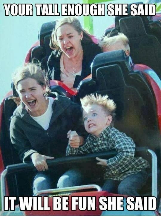 This is what kaden looked like when I took him on the Magnum at Cedar Point!