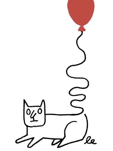 Léon Edler - The Pressure of being a Cat Tiphaine-illustration  #cat #drawing