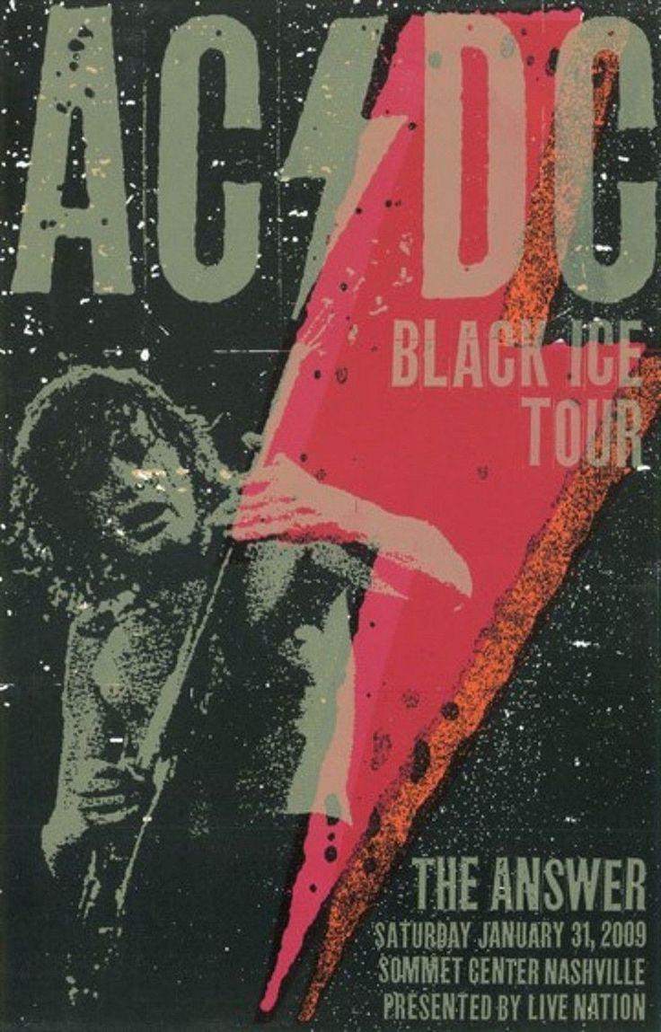 AC/DC - Black Ice Tour - Nashville 2009 - Mini Print