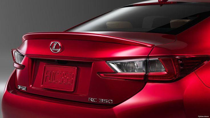 Red 2015 Lexus Rc 350 F Sport Back End Wallpaper Lexus