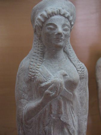 Statue found at the Sanctuary of Demeter Malophoros.